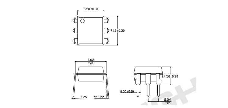 亿光6脚插件光耦4n25,电源稳压器应用光耦,川朗电子